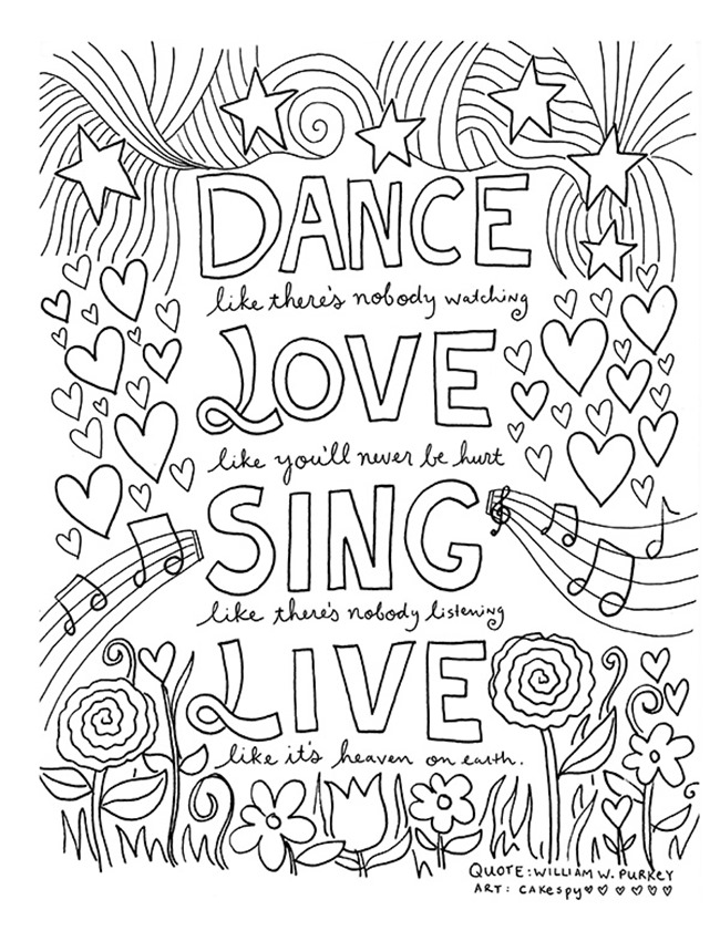 Live Love Laugh Coloring Pages