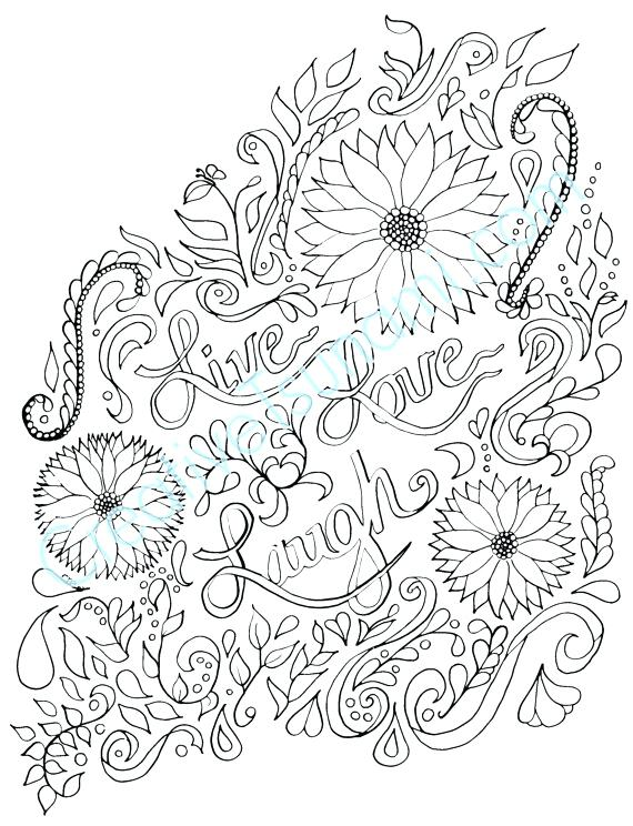 570x744 Live Laugh Love Coloring Pages With Live Laugh Love Coloring