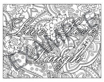 340x270 Live Love Laugh Coloring Pages