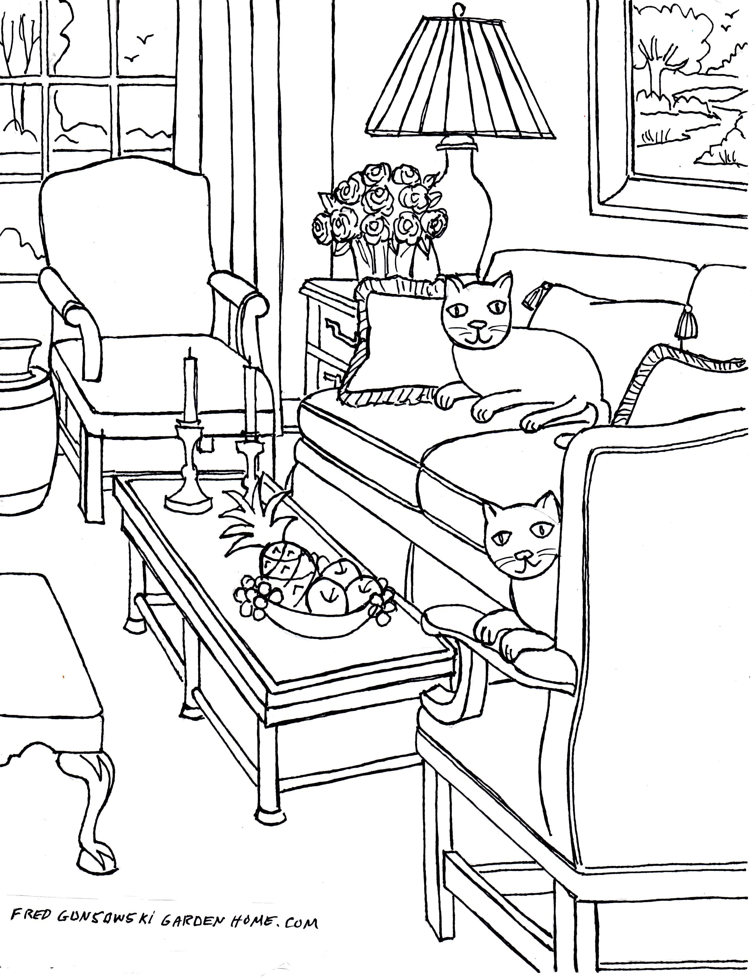 2550x3300 Fun Living Room Coloring Pages! My Awesome Coloring Book
