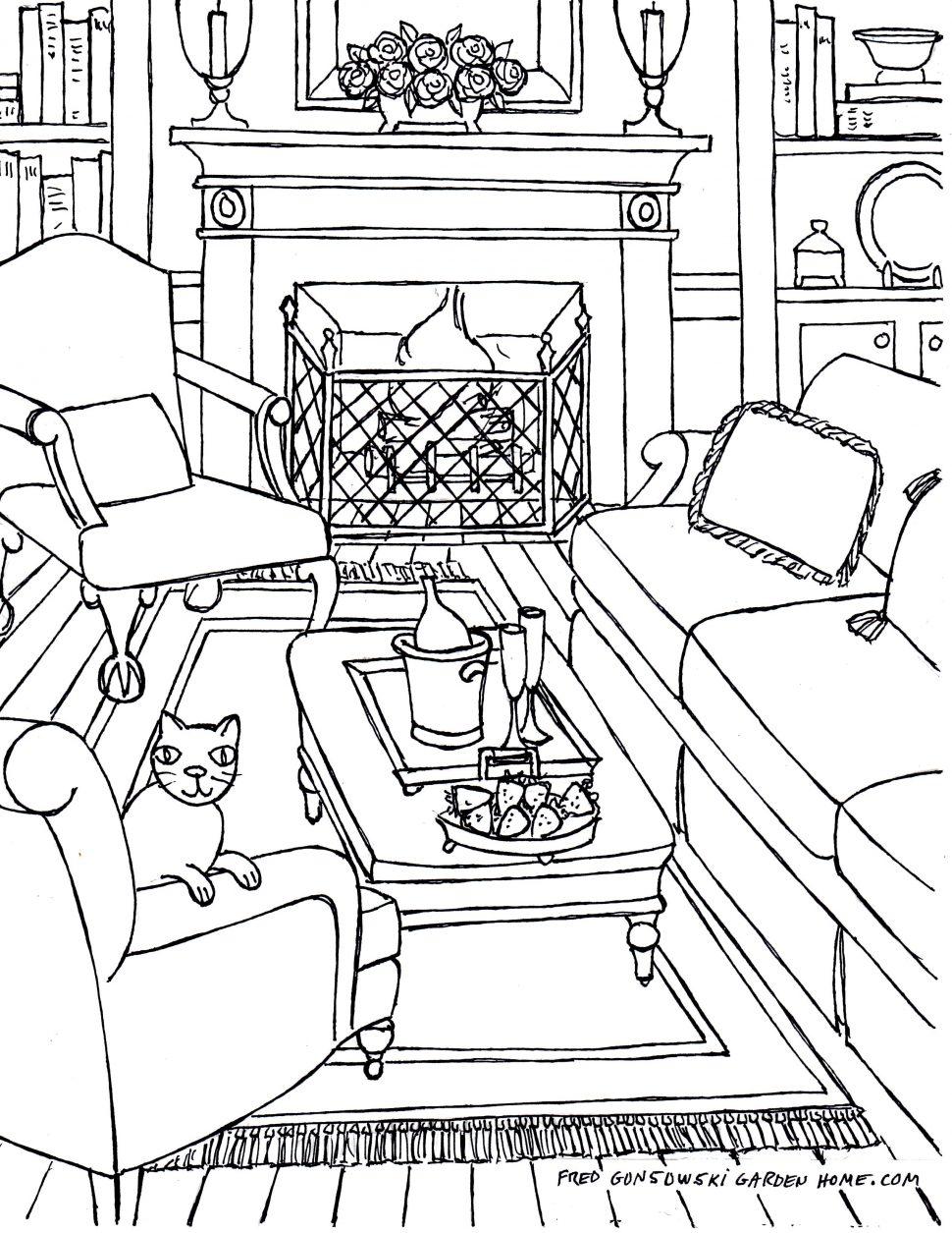 970x1255 Living Room Living Room Drawing Step