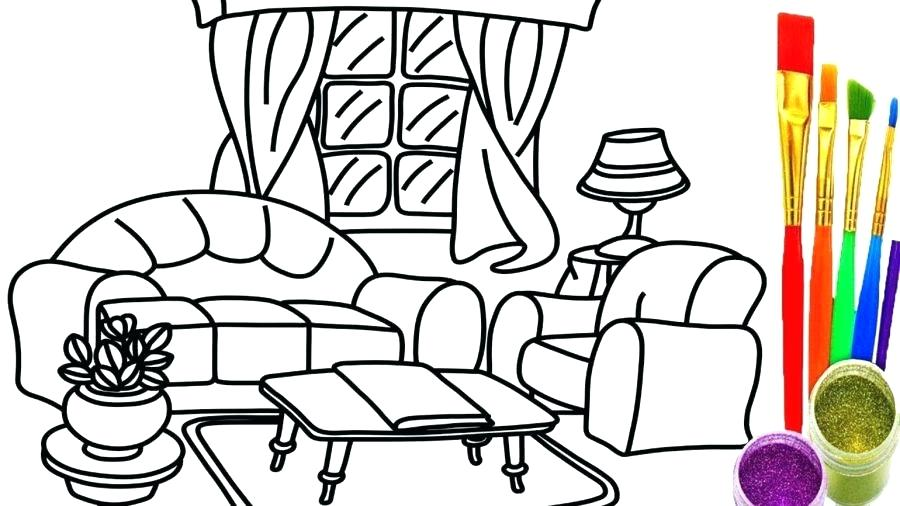 900x506 Living Room Coloring Draw Living Room How To Draw Living Room