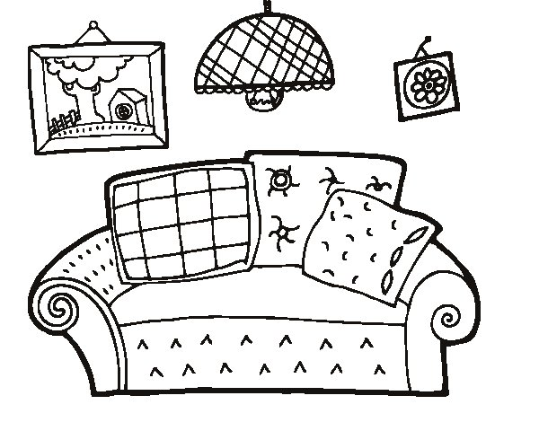 600x470 Living Room Coloring Page Coloringcrewcom, Coloring Pages Family