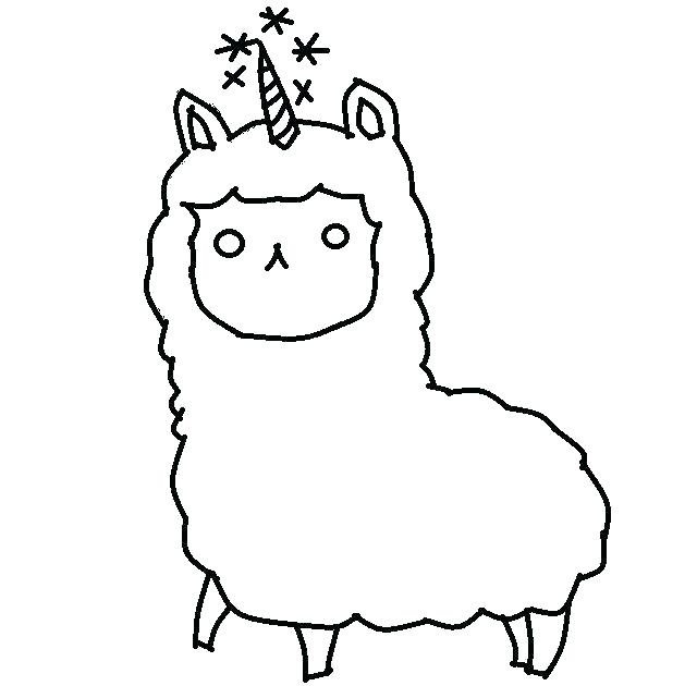 Llama Coloring Pages - Best Coloring Pages For Kids | 630x640
