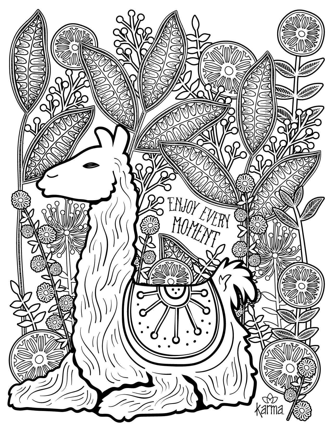 Llamacorn Coloring Pages at GetDrawings | Free download