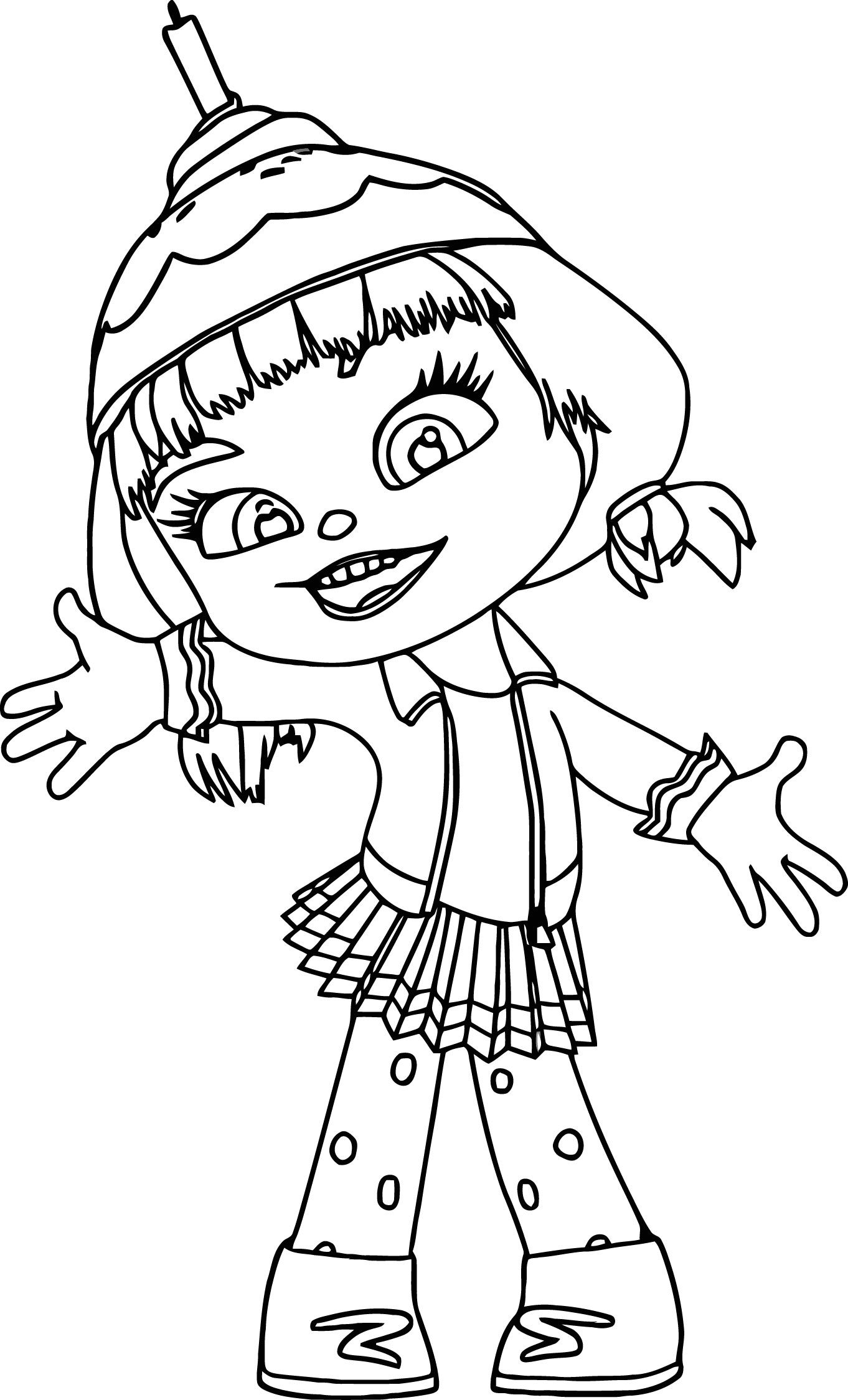 1362x2249 Appealing Wreck It Ralph Candle Head Girl Coloring Page