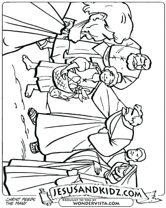 576x720 Fiery Furnace Coloring Page Coloring Pages Bread Loaves And Fishes