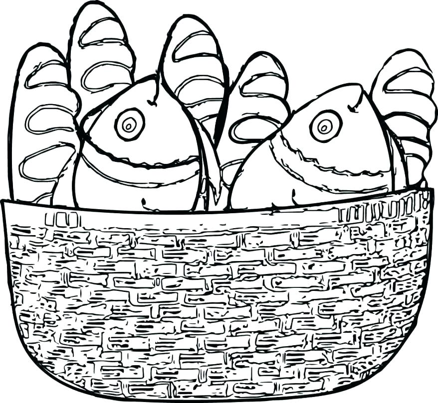 878x809 Five Loaves And Two Fishes Coloring Page Ing Ing Loaves And Fishes