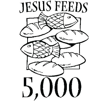 449x420 Five Loaves And Two Fishes Coloring Page S Sunday School Coloring