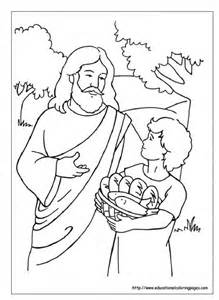 219x300 Loaves And Fishes Coloring Page