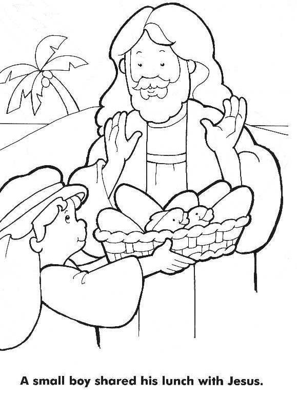 579x774 Loaves And Fishes Coloring Page Sunday School Lessons