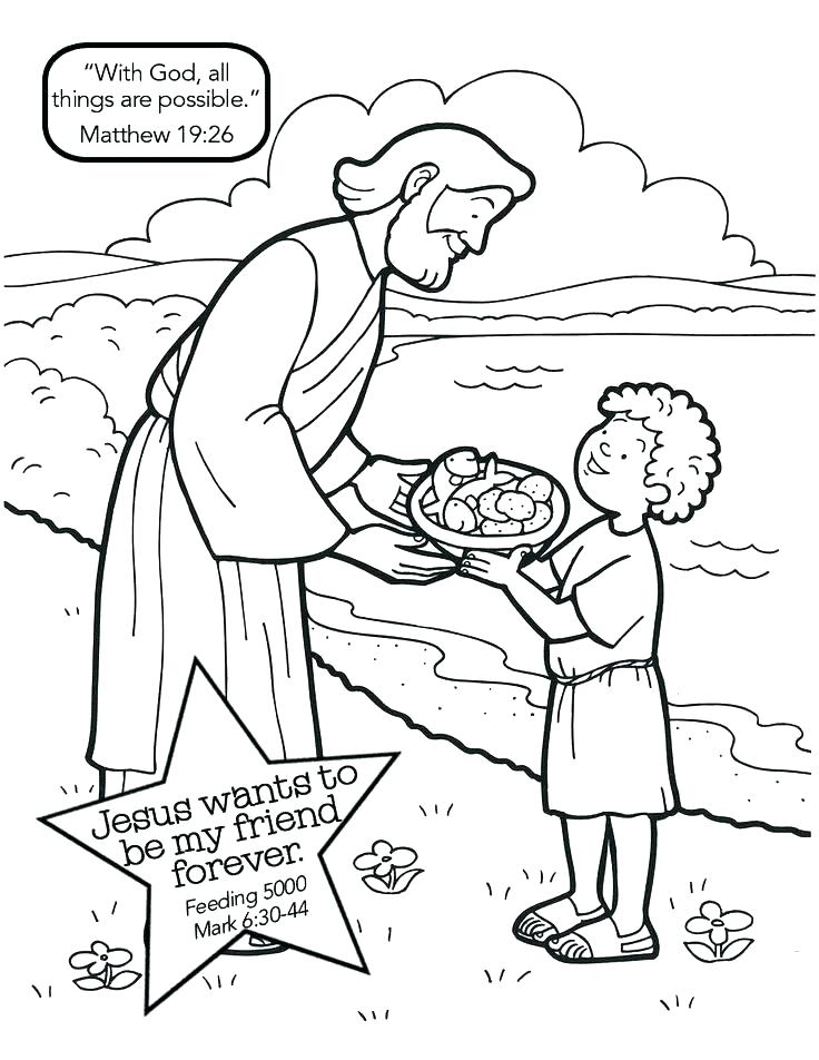 736x952 Loaves And Fishes Coloring Page Fish Pages Bible