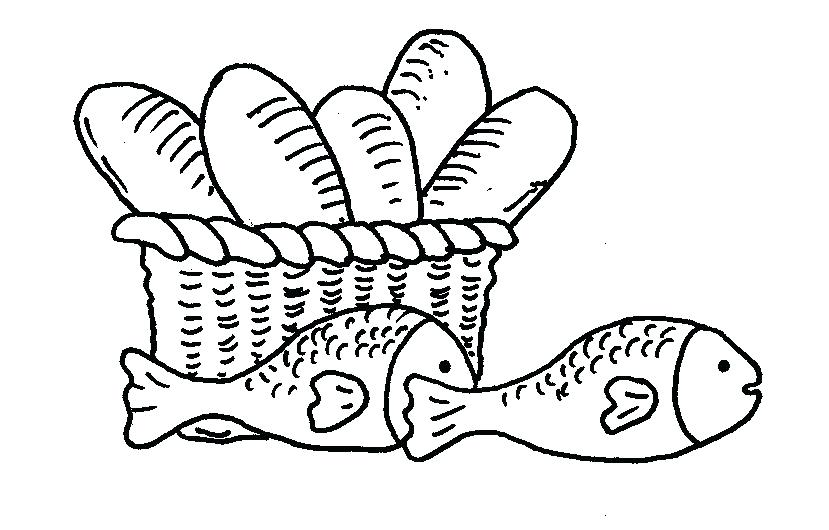 829x530 Loaves And Fishes Coloring Page Loaves Fish Colouring Pages