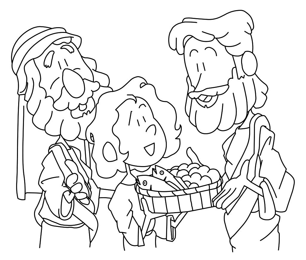 1024x870 Loaves And Fishes Coloring Pages