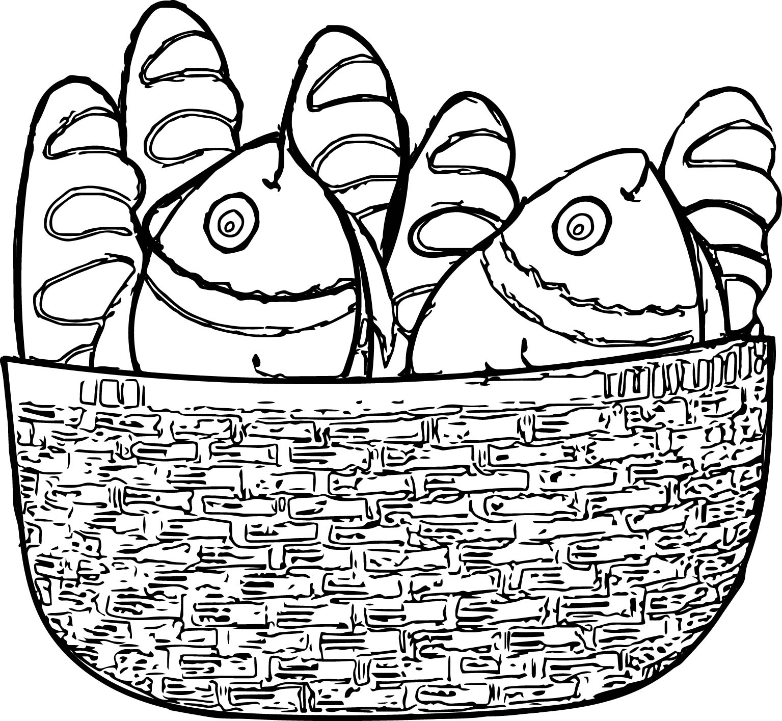 1535x1415 Loaves And Fishes Coloring Pages Gallery Free Coloring Sheets