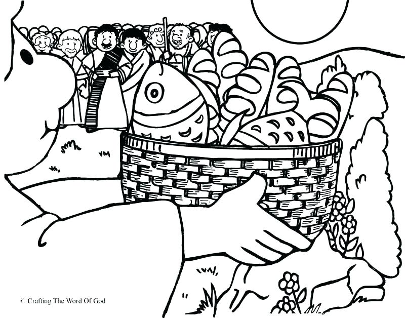 800x628 Coloring Page Of Loaves And Fish Loaves And Fishes Coloring