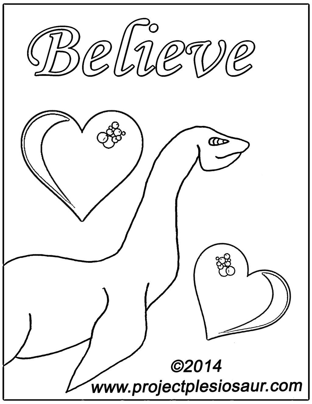 1024x1325 Printable Loch Ness Monster Coloring Page