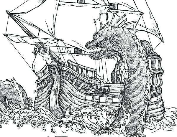 600x465 Sea Monster Coloring Pages Sea Monster Coloring Pages Monster