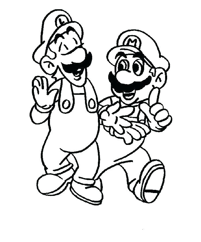 700x840 Free Coloring Pages Mario Coloring Page Coloring Pages Lock Screen