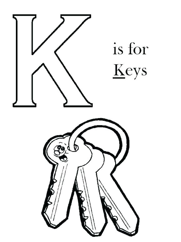 580x773 Lock And Key Coloring Page Professional