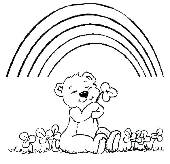 590x569 Coloring Page Of A Rainbow Rainbow Coloring Pages Lock Screen