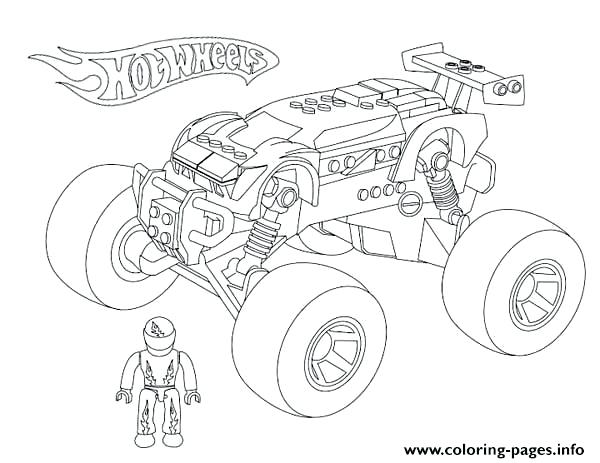 600x463 Emerging Monster Truck Color Page Monster Truck Coloring Pages