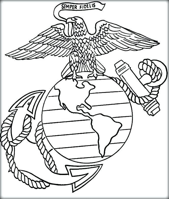 664x780 Air Force Logo Coloring Pages Marine Corps Kids Colouring Pages