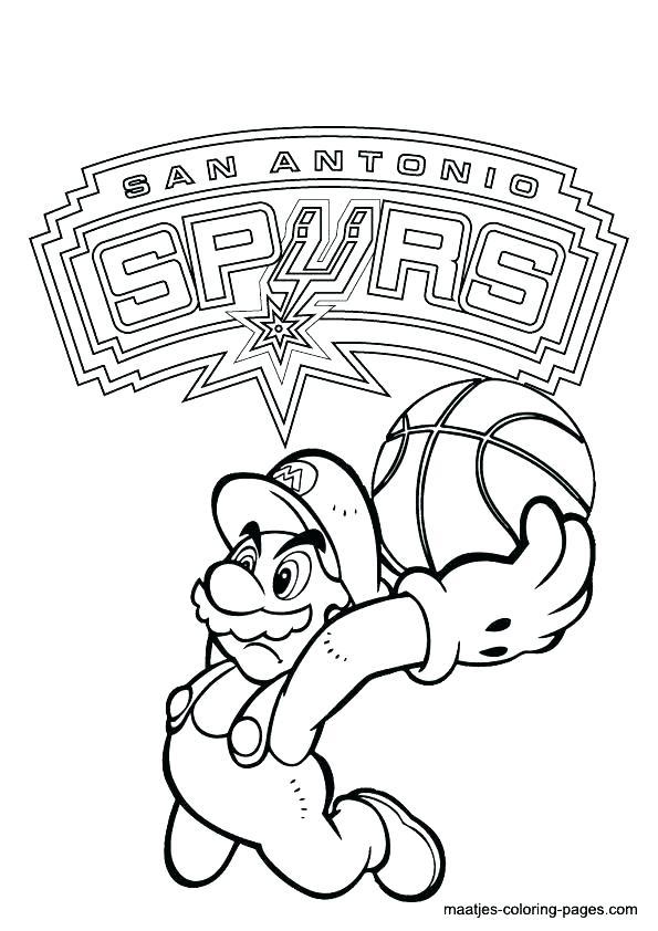 595x842 Nba Team Logos Coloring Pages Coloring Pages Free Basketball Nba