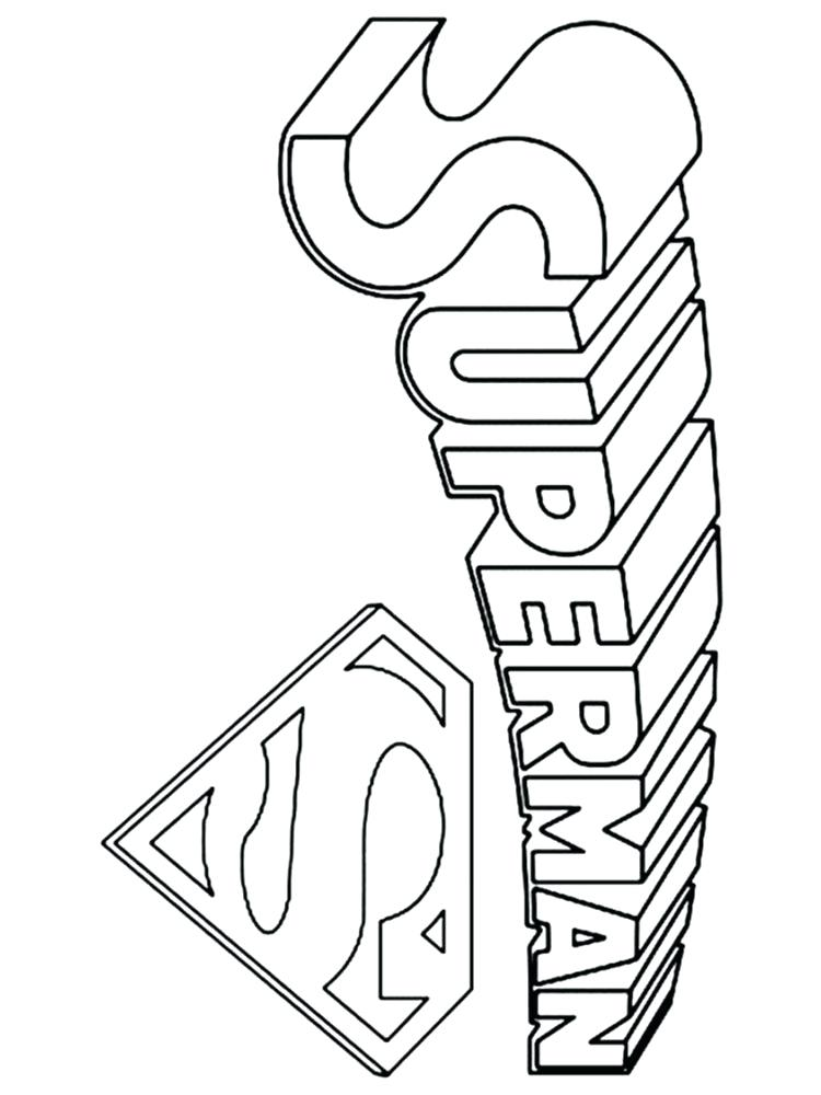 750x1000 Superman Logo Coloring Pages