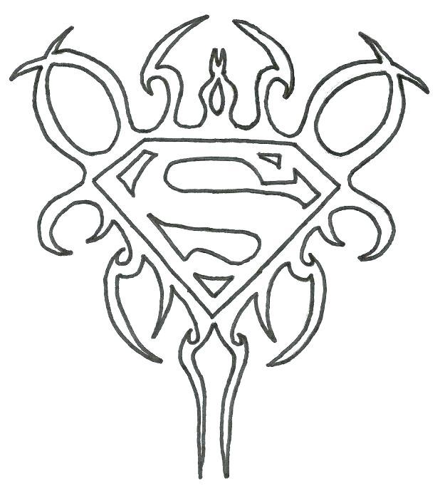 618x699 Batman Vs Superman Logo Coloring Pages Superman Logo Coloring