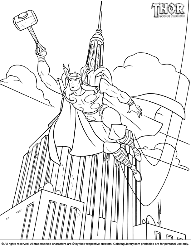 The Best Free Thor Coloring Page Images Download From 273 Free