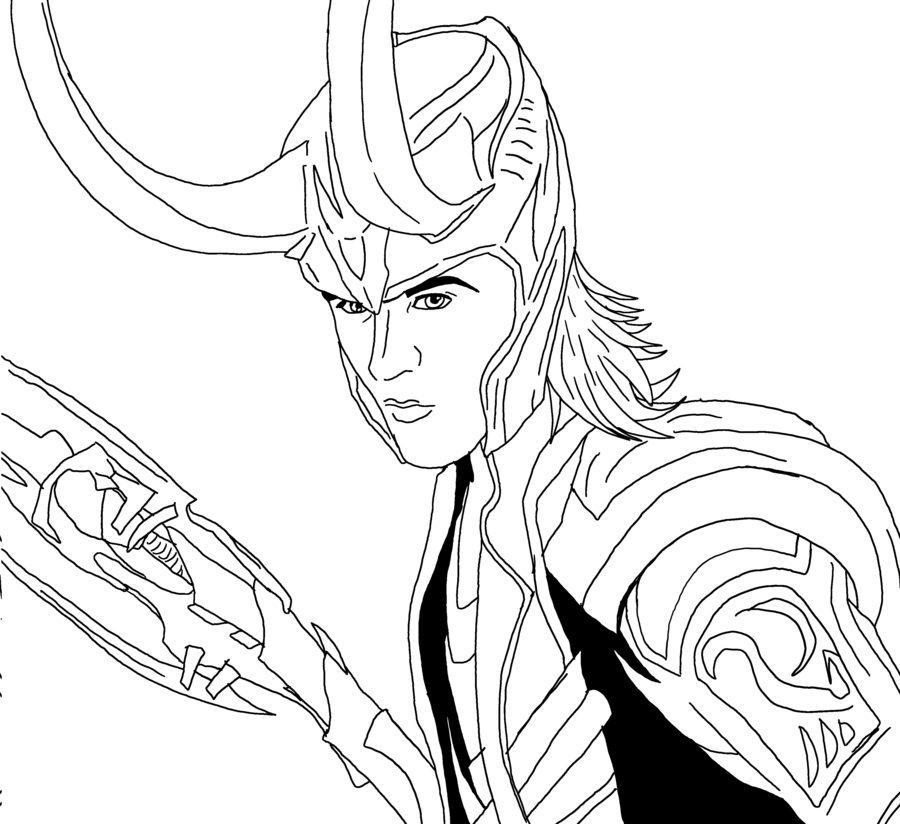 900x824 Coloring Pages Loki, Printable For Kids Adults, Free