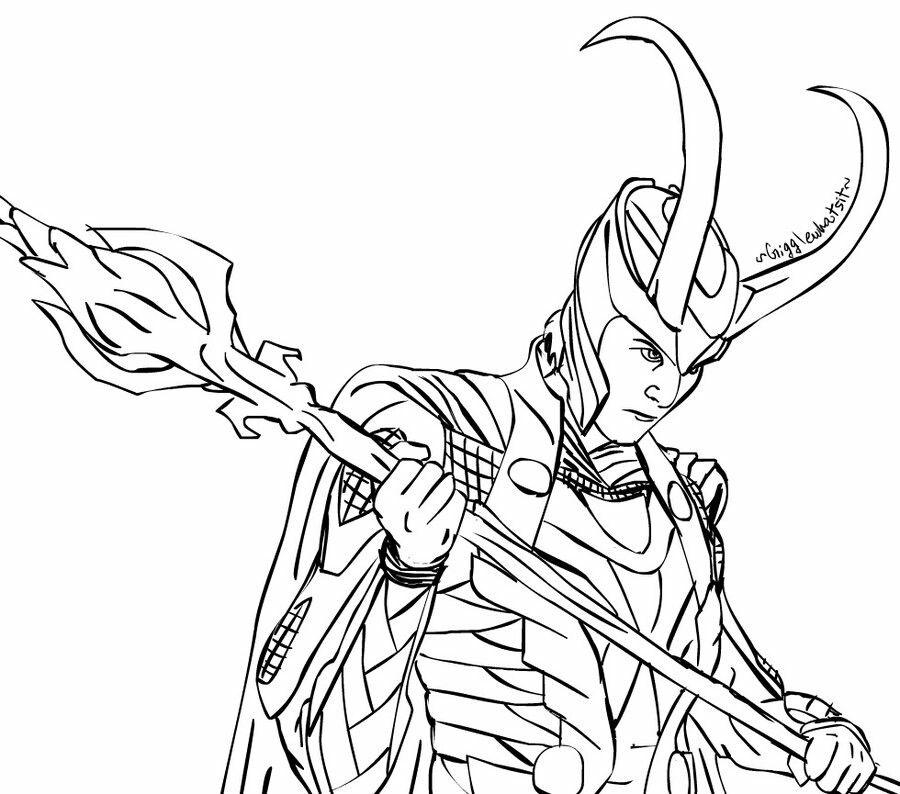 The best free Loki coloring page images  Download from 45 free