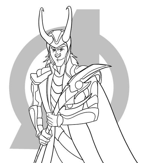 500x572 Loki Coloring Page Loki Fanart, Funny Memes, And Tumblr
