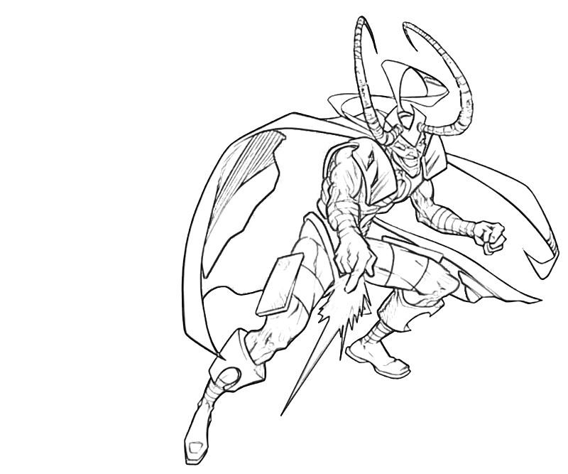 800x667 Avengers Coloring Pages Loki Attack Bw In Coloring Pages