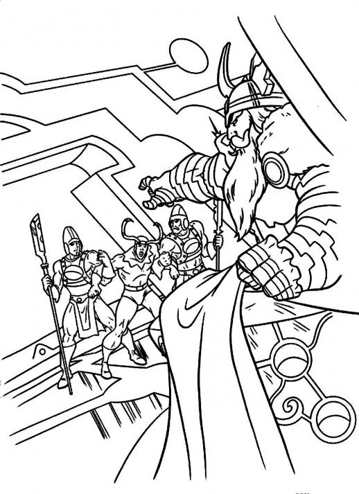 518x713 Odin Asking Loki To Be Punished In Thor Story Coloring Pages