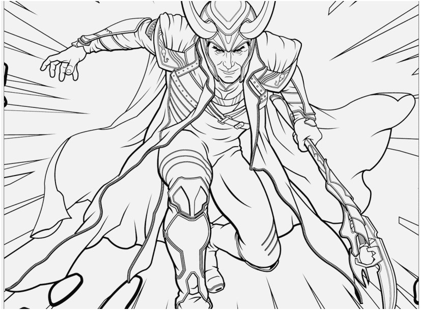 827x609 Superheroes Printable Coloring Pages Graphic Avengers Loki