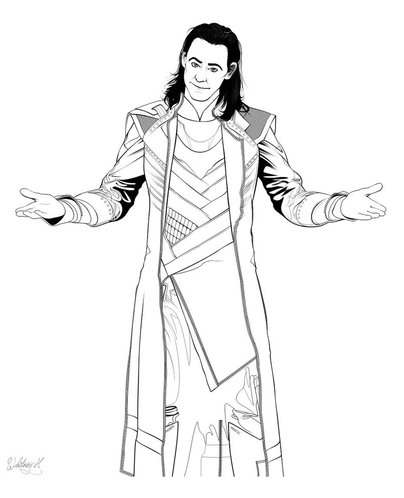 805x992 Avengers Loki Coloring Page Free Printable Pages