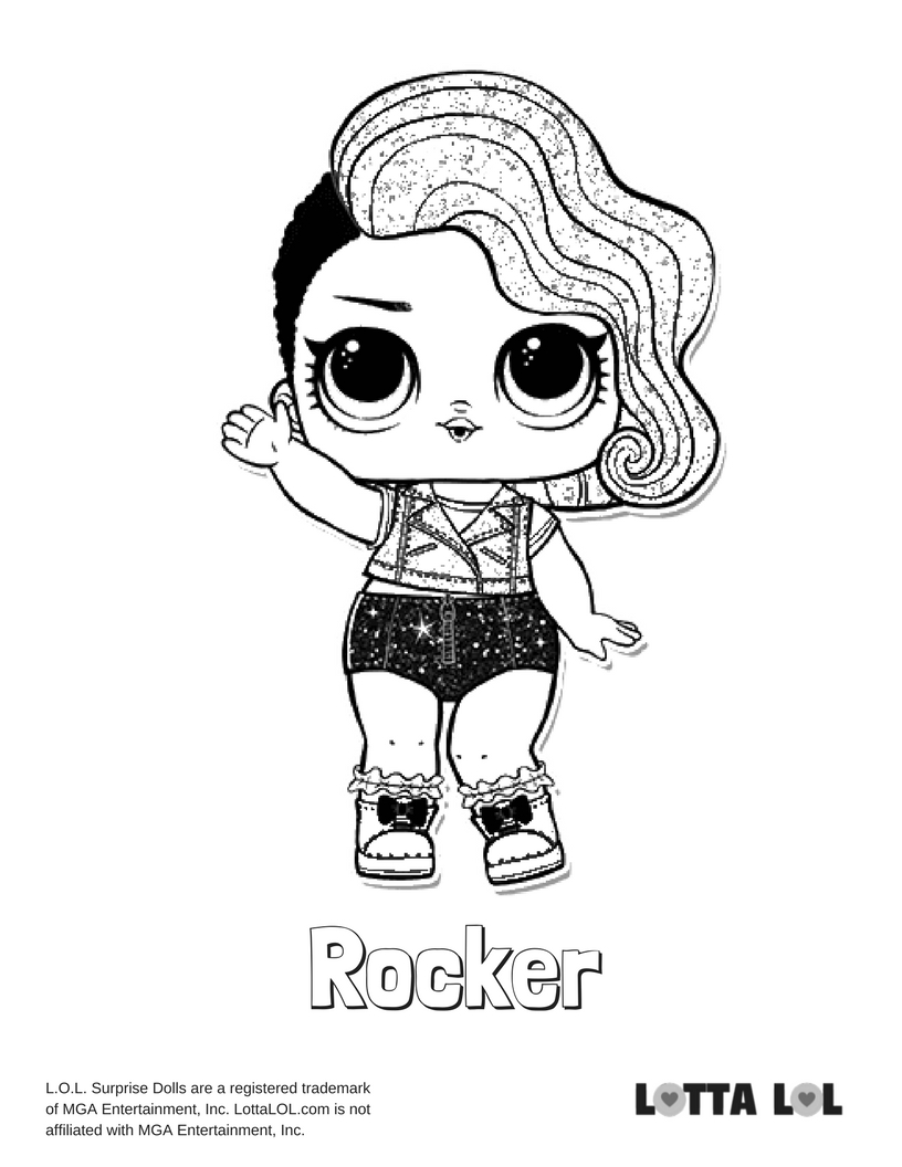 816x1056 rocker glitter lol surprise doll coloring page lotta lol