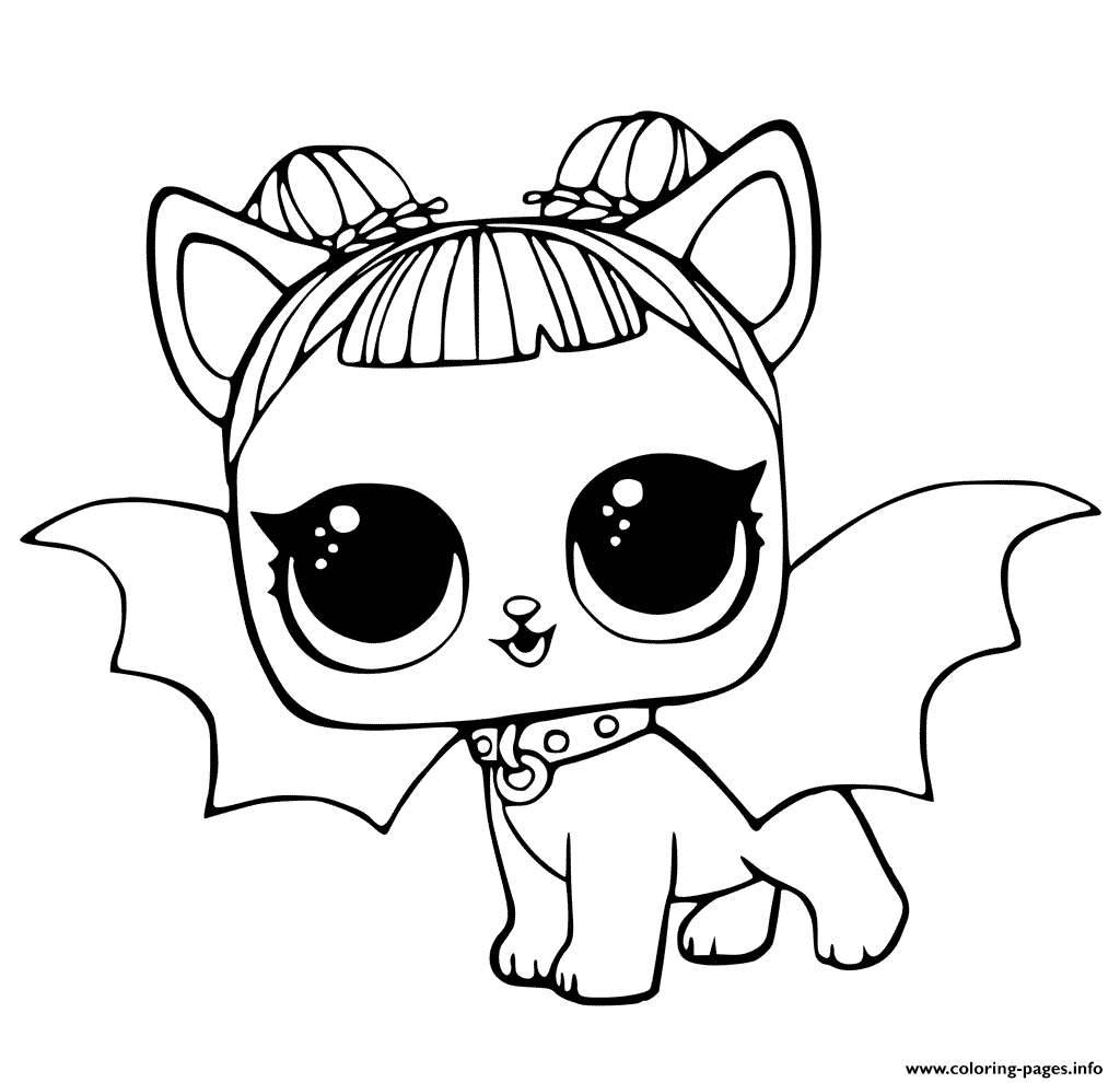 1024x990 Lol Pets Coloring Pages Cute Midnight Pup With Devil Wings