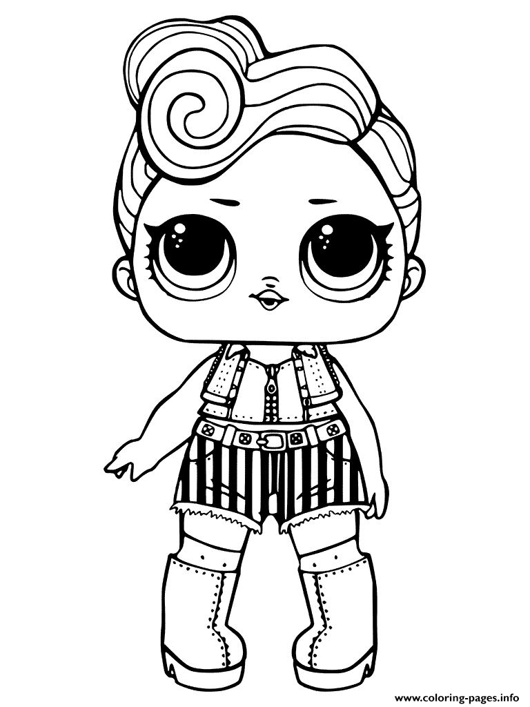 Lol Doll Coloring Pages Rocker