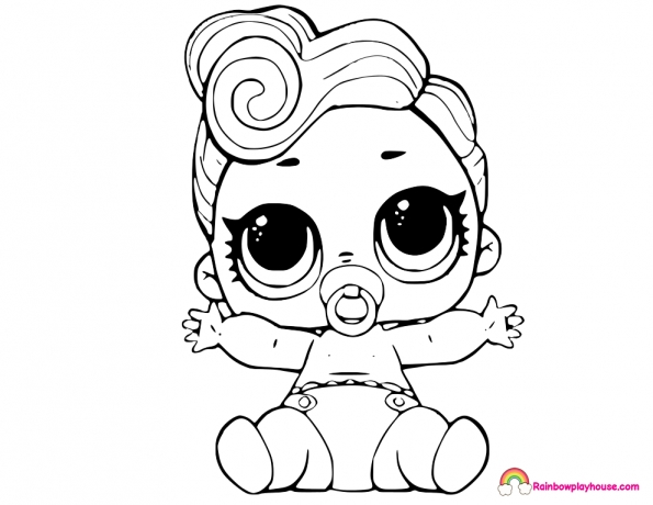 595x460 Lol Doll Coloring Pages Lil Queen Lol Dolls Coloring Page Rainbow