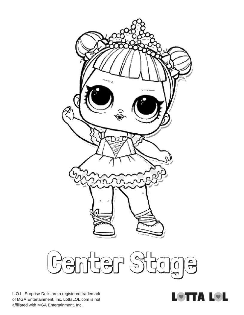 816x1056 Center Stage Lol Surprise Doll Coloring Page Center Stage, Stage