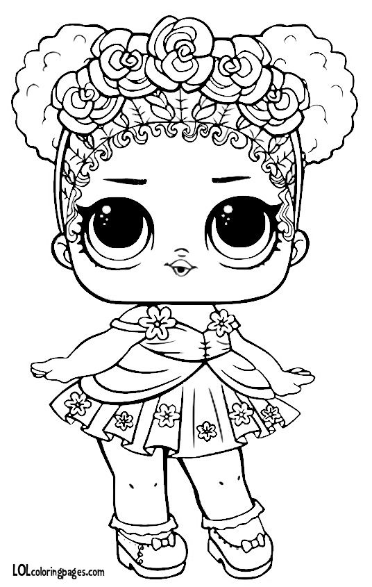 536x845 Flower Child Series L O L Surprise Doll Coloring Page
