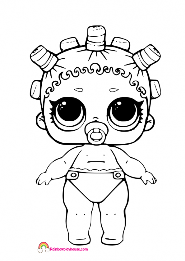 Lol Dolls Coloring Pages at GetDrawings | Free download