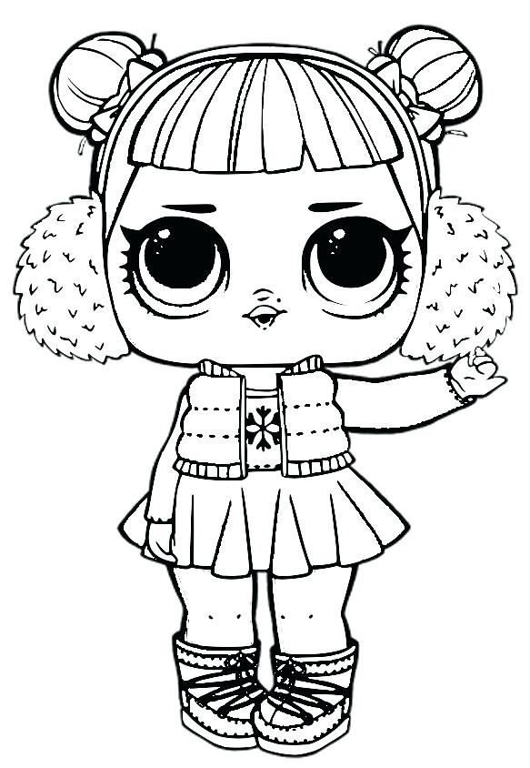 image regarding Lol Dolls Printable known as Spice Lol Doll Coloring Internet pages