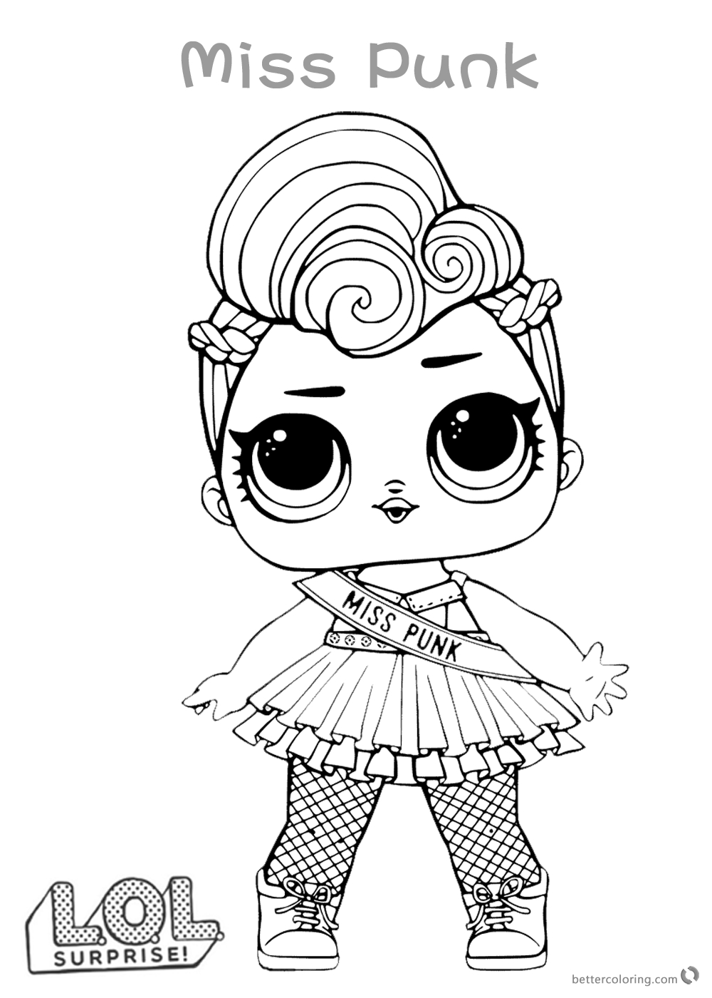 Lol Dolls Printable Coloring Pages At Getdrawingscom Free