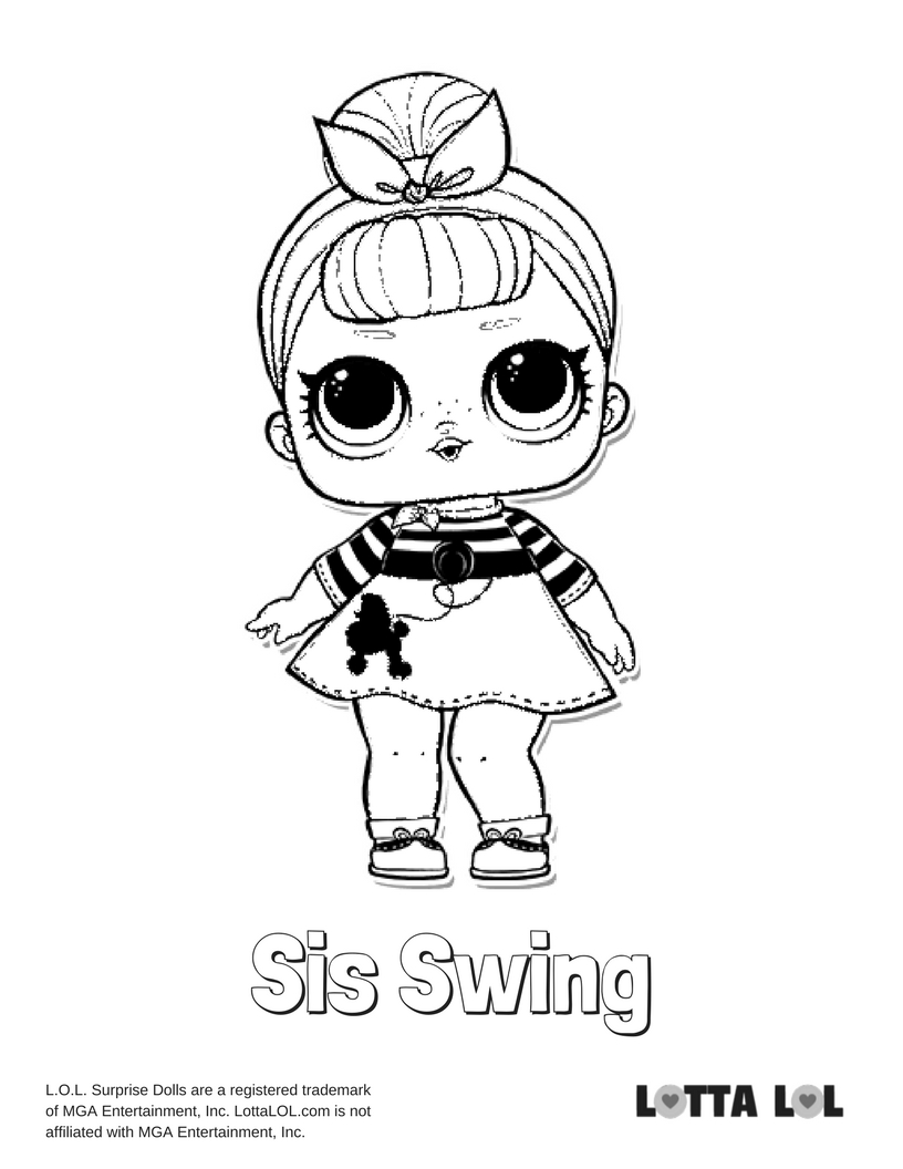 816x1056 sis swing lol surprise doll coloring page lotta lol