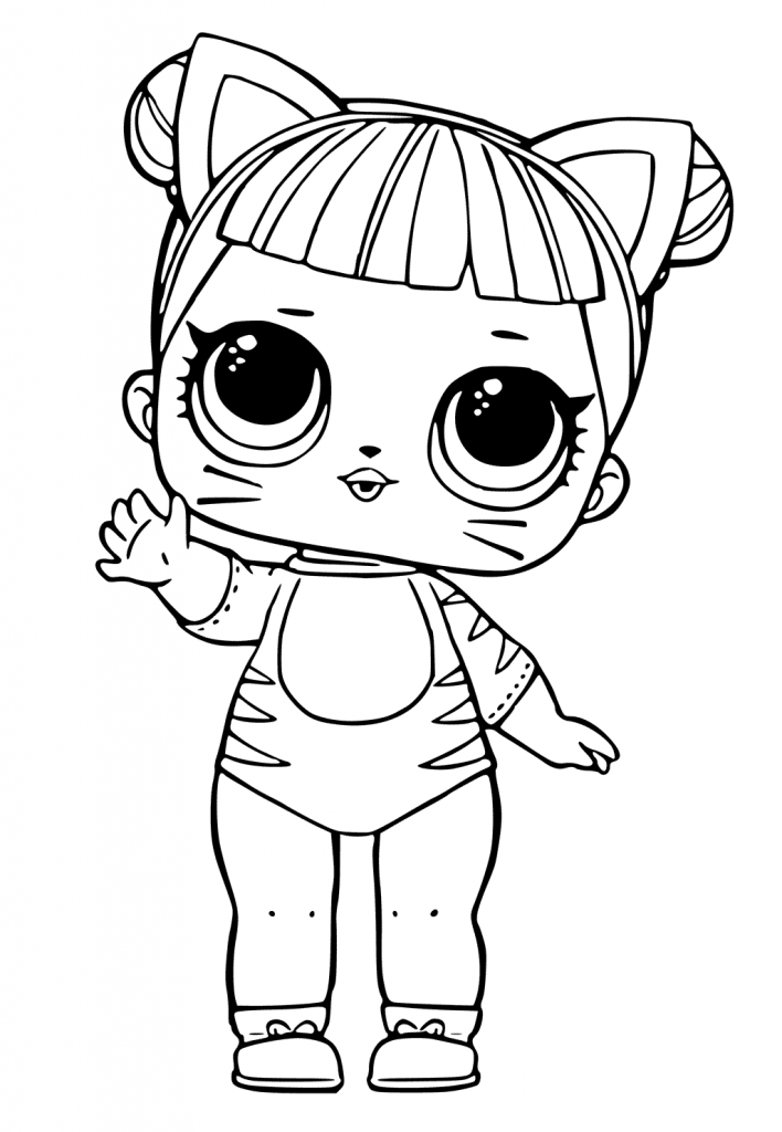 image relating to Free Printable Lol Coloring Pages named Lol Dolls Printable Coloring Web pages at  Free of charge