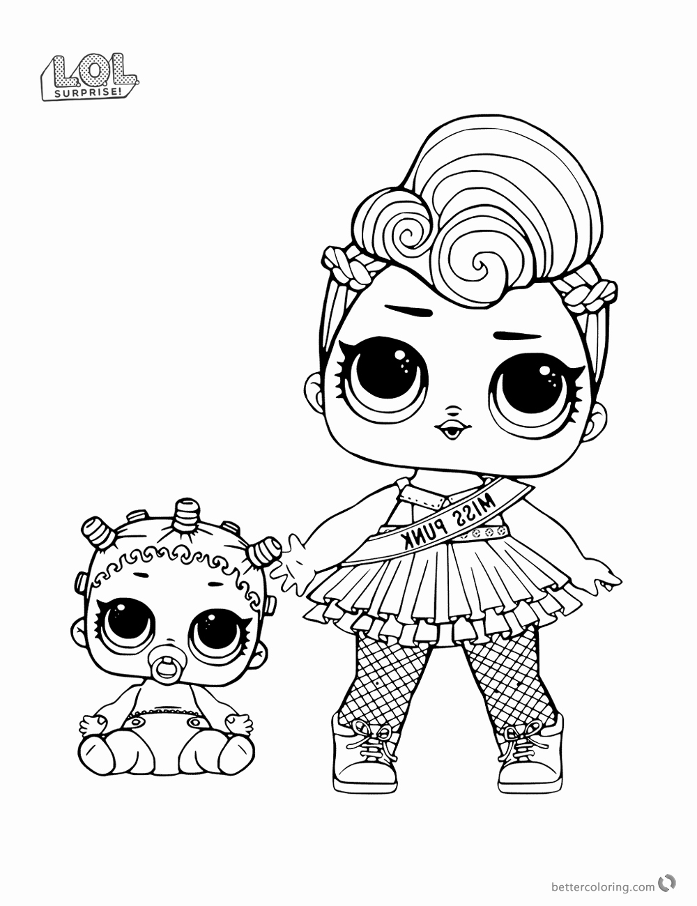 1000x1300 lol dolls coloring pages image miss punk lol surprise doll